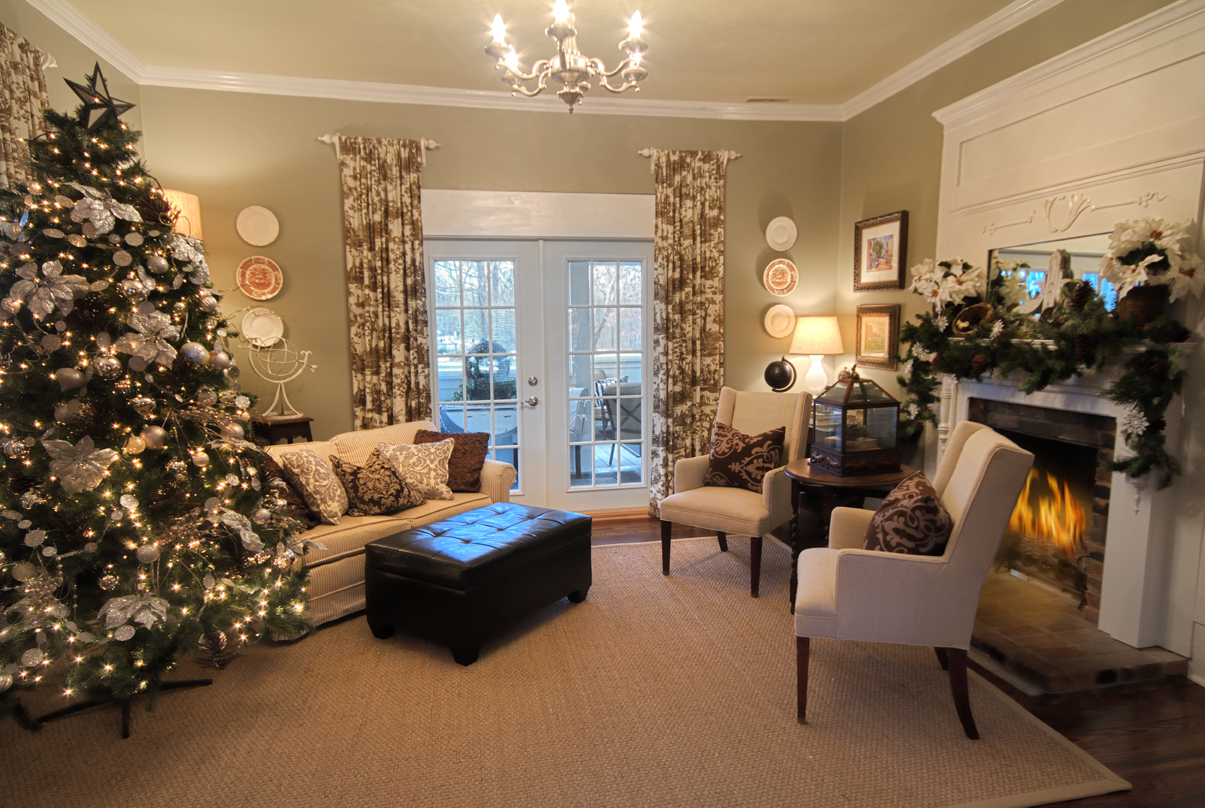 gray and white farmhouse christmas